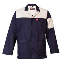 Jonsson Workwear Two Tone Work Jacket - Navy & Stone