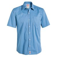 Jonsson Workwear Legendary 1 Pocket Short Sleeve Work Shirt - Blue