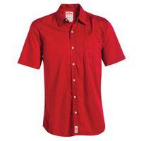 Jonsson Workwear Legendary 1 Pocket Short Sleeve Work Shirt - Red