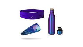 TheGoodSport Unisex 3 Piece Fitness Set - Purple (Size: S)