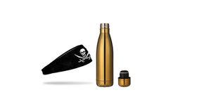 TheGoodSport Unisex Water Bottle And Headband Set - Gold