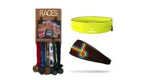 TheGoodSport Unisex 3 Piece Race Set - Brown & Yellow (Size: L)