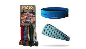 TheGoodSport Unisex 3 Piece Race Set - Blue & Grey (Size: M)