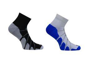 Vitalsox Ped Compression 2 Pack Compression Socks - Black & White (Size: S)