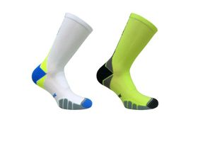 Vitalsox Crew 2 Pack Compression Socks - Yellow & White (Size: M)