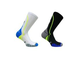 Vitalsox Performance Crew 2 Pack Compression Socks - Black & White (Size: L)