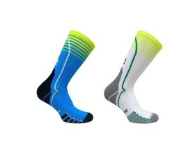 Vitalsox Vital Crew 2 Pack Compression Socks - White & Turquoise (Size: M)