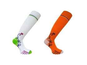 Vitalsox Patented Performance Graduated Compression Socks 2 Pack  - White & Orange (Size: S)
