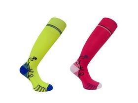 Vitalsox Patented Performance Graduated Compression Socks 2 Pack - Pink & Yellow (Size: M)