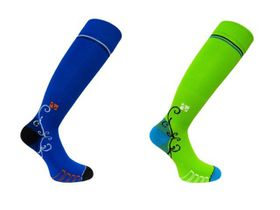 Vitalsox Patented Performance Graduated Compression Socks 2 Pack - Green & Royal (Size: L)