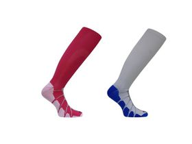 Vitalsox Patented Performance Graduated Compression Socks 2 Pack - White & Fuchsia (Size: S)