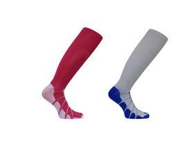 Vitalsox Patented Performance Graduated Compression Socks 2 Pack - White & Fuchsia (Size: M)