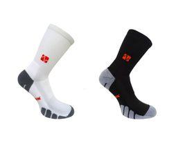 Vitalsox Court Sport Crew 2 Pack Compression Socks - Black & White (Size: L)