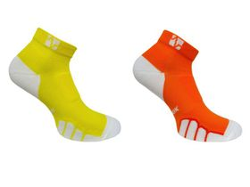 Vitalsox Court Sport Low-Cut 2 Pack Compression Socks - Yellow & Orange (Size: XL)