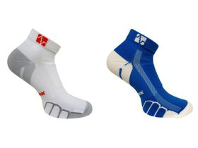 Vitalsox Running Ghost Lw 2 Pack Compression Socks - White & Royal (Size: S)