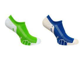 Vitalsox Running Ghost Lw 2 Pack Compression Socks - Lime & Royal (Size: S)