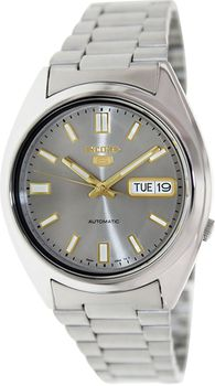 Seiko SNXS75K Men's 5 Automatic Stainless Steel Automatic Watch - Silver (Parallel Import)