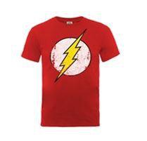 DC Originals - Flash: Distressed Logo T-Shirt (Parallel Import)