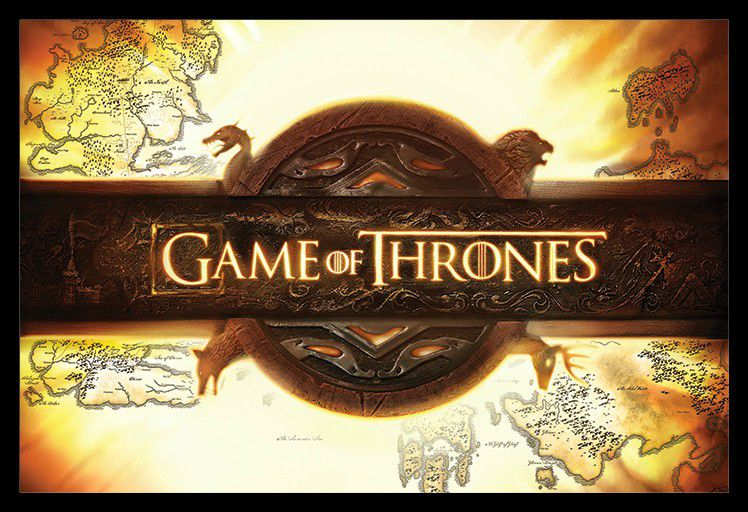 Game Of Thrones - Logo Poster With Black Frame | Buy Online in South ...