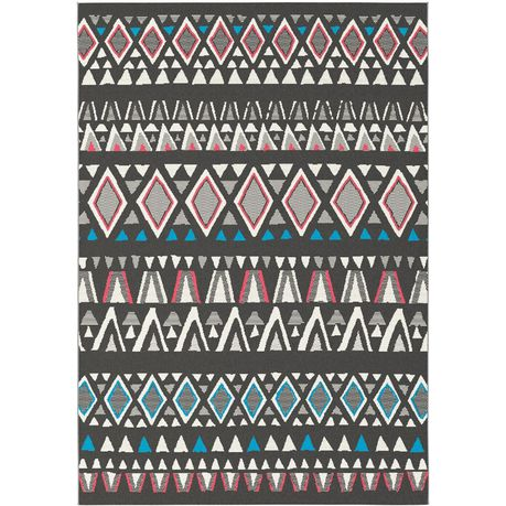 Rugs Original T Star Modern Triangular Design Blue Red Cream