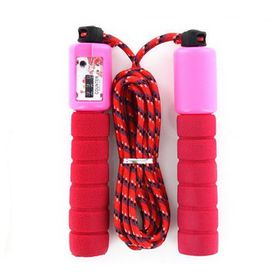Soft Grip Skipping Rope with Counter - Pink