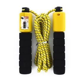 Soft Grip Skipping Rope with Counter - Yellow
