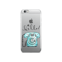 Hey Casey! Blue Telephone Case for iPhone 6 & 6s