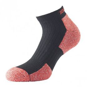 1000 Mile Men's Cupron Anklet Sock - Black & Red (Size: 6-8.5)