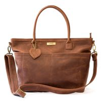 Mally Beula Leather Baby Bag - Brown