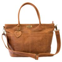 Mally Beula Leather Baby Bag - Toffee