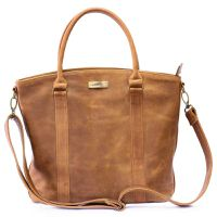 Mally Emma Leather Handbag - Toffee