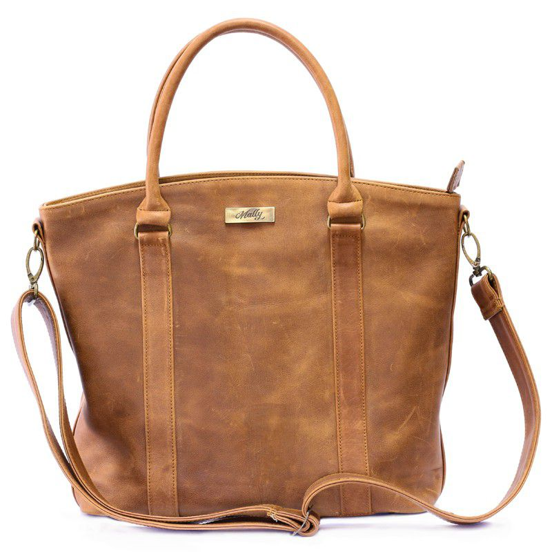 Mally Emma Leather Handbag Toffee