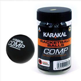 Karakal Competition Racketball Ball Blister Pack - Black