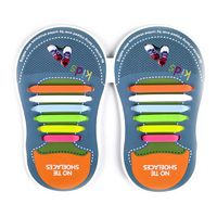 Binah G No Tie Silicone Elastic Shoe Lace for Kids - Mixed