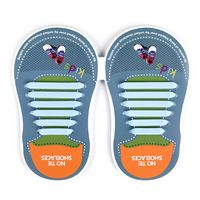 Binah G No Tie Silicone Elastic Shoe Lace for Kids - Sky Blue