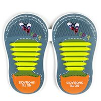 Binah G No Tie Silicone Elastic Shoe Lace for Kids - Yellow