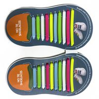 Binah G No Tie Silicone Elastic Shoe Lace for Adults - Mixed