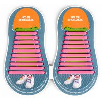Binah G No Tie Silicone Elastic Shoe Lace for Adults - Pink