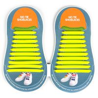 Binah G No Tie Silicone Elastic Shoe Lace for Adults - Yellow