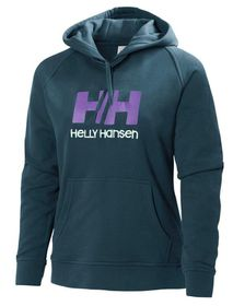Helly Hansen Womens HH Logo Hoodie - Night Green
