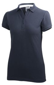 Helly Hansen Womens Crew Pique Polo Shirt - Navy