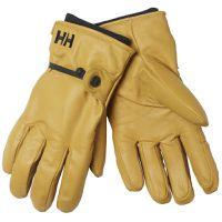 Helly Hansen Mens Leather Vor Ski Gloves - New Wheat