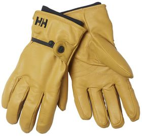 Helly Hansen Mens Leather Vor Ski Gloves - New Wheat