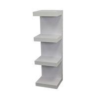 Fine Living - Juno 4 Pillar Shelves - White
