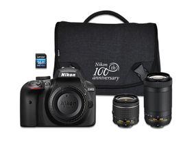 Nikon D3400 DSLR 24.4MP Twin Lens Value Bundle