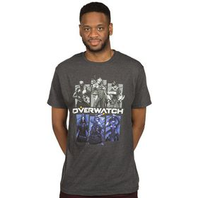 Overwatch: Bring Your Friends - Mens T-Shirt (Charcoal)