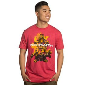 Overwatch: Build Em Up - Mens T-Shirt (Red)