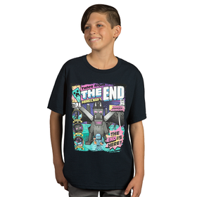 Minecraft: Tales From The End - Youth T-Shirt (Navy)