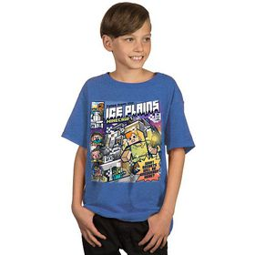 Minecraft: Tales From The Ice Plains - Youth T-Shirt (Blue)