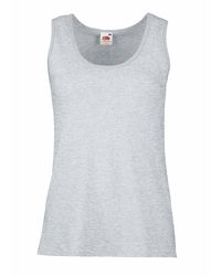 0386ac6c6c6db1 Fruit Of The Loom Lady-Fit Valueweight Vest - Heather Grey
